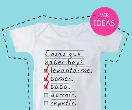 Regalos para padres primerizos: bodys y camisetas