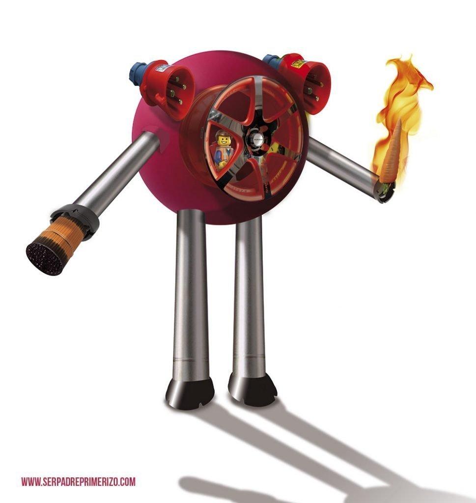 Robot Rojo destructor