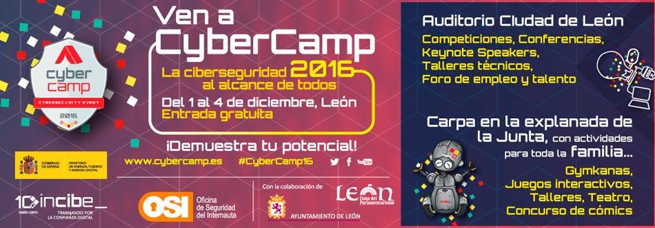 CYBERCAMP 2016: Ciberseguridad para padres y niños