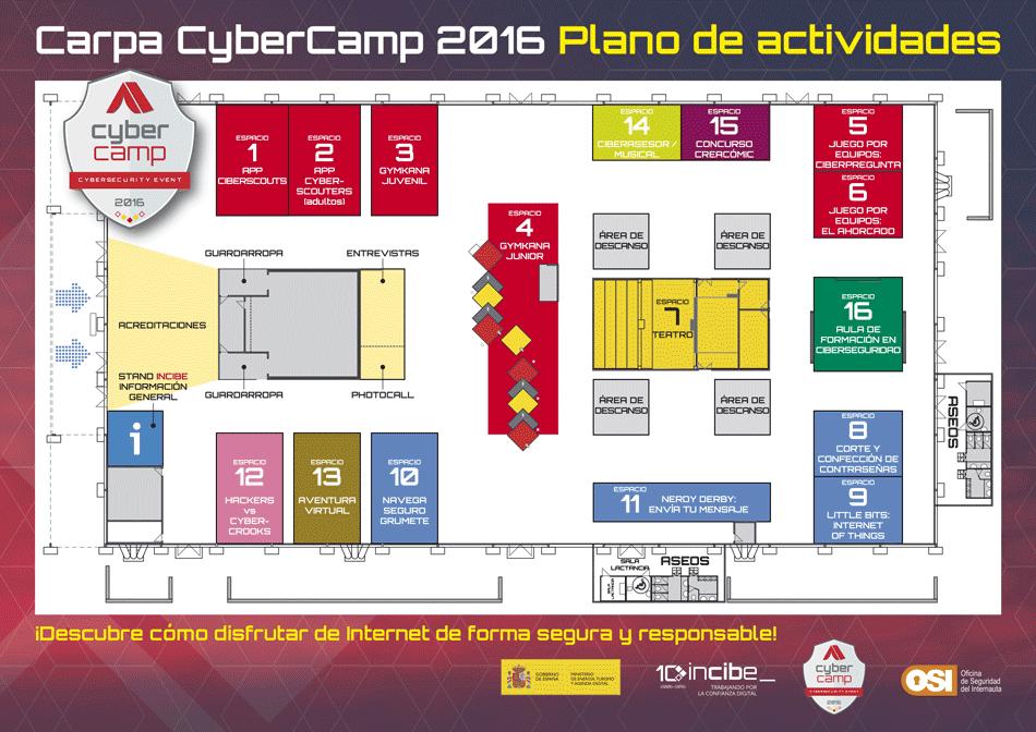 Plano actividades CYBERCAMP 2016